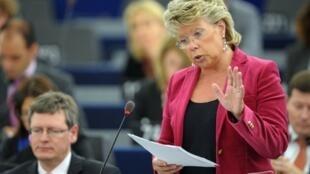 Ủy viên đặc trách tư pháp Viviane Reding (AFP /F. Florin)