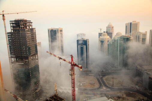 Doha, thủ đô Qatar không ngừng xây cất để chuẩn bị cho World Cup 2022 - Getty /Omar Chatriwala