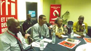 De gauche à droite : Simon Compaoré, Mohammed Ag Bendech, Mama Touré Dieng, Daouda Diagne.
