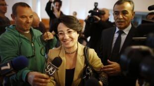 Haneen Zoabi, députée du Parti du rassemblement.