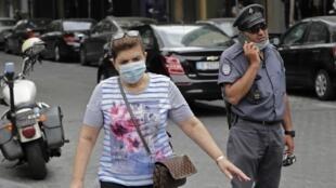 Nouvelles mesures de confinement à Beyrouth après une résurgence du coronavirus, le 29 juillet 2020.