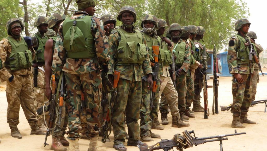 Wanajeshi wa Nigeria katika mji wa Baga. Ni vigumu kujua kwa sasa nani kati ya jeshi la Nigeria na Boko Haram anaedhibiti mji wa Baga.