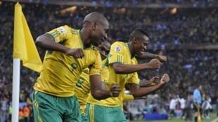 Les Sud-Africains lors du premier match de la Coupe du monde 2010.