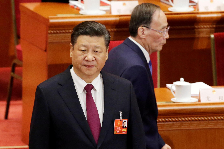 中國國家主席習近平與副主席王岐山