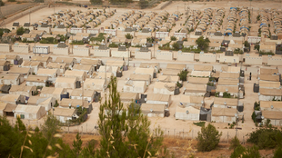 The Nizip refugee camp in Turkey, near the Syrian border