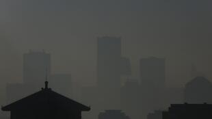 Bắc Kinh trong khói mù. Ảnh ngày  06/02/ 2013.