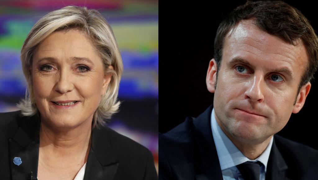 Pesquisas mostram empate técnico entre Le Pen e Macron