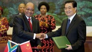 President Zuma meets President Jintao in Beijing