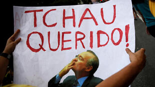 Une pancarte anti-Renan Calheiros tenue par un manifestant à Sao Paulo, le 4 décembre 2016.