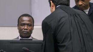 Dominic Ongwen, l'ex-chef de la LRA, devant la Cour pénale internationale à La Haye, lors de l'audience de confirmation des charges le 21 janvier 2016.