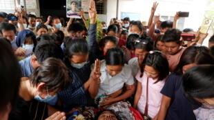 缅甸第二大城市曼德勒被军政府杀害的民众及家属
