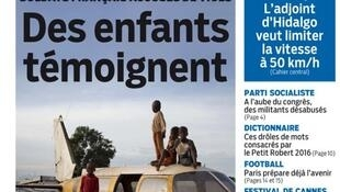 Capa do jornal francês Le Parisien desta segunda-feira, 18 de maio de 2015.