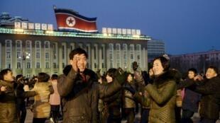 北朝鮮民眾上街載歌載舞慶祝試爆氫彈成功