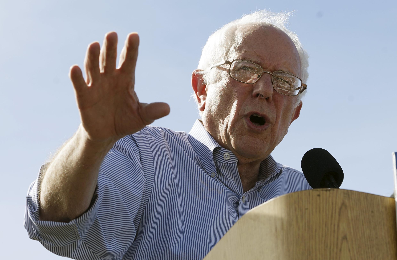 Bernie Sanders,candidat às primáarias  democratas para a eleição presidencial americana de Novembro