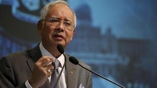 Malaysian Prime Minister Najib Razak addressing a conference earlier this month