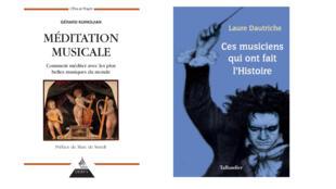 Couvertures des ouvrages « Méditation musicale: comment méditer avec les plus belles musiques du monde » et « Ces musiciens qui ont fait l'Histoire »