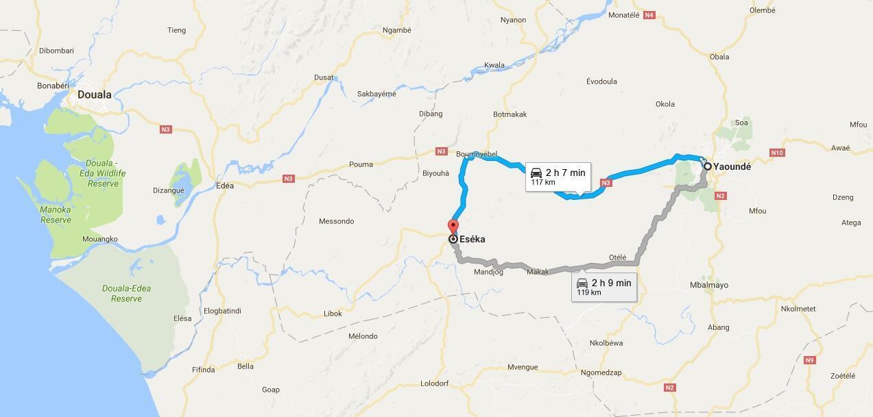 L'accident de train est survenu à Eseka, entre Yaoundé et Douala.