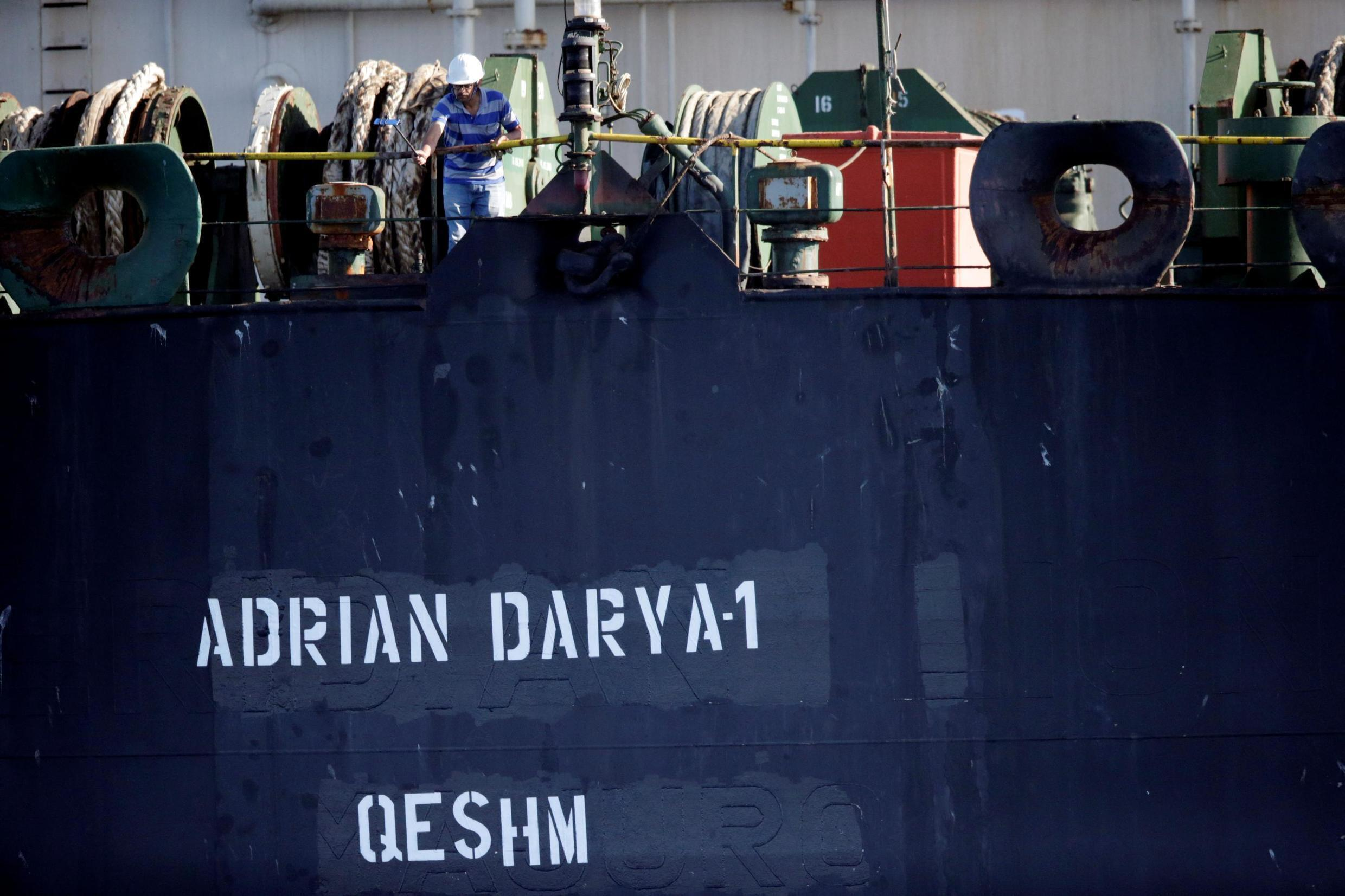 The Iranian oil tanker Grace 1 has been renamed Adrian Darya 1 and switched from a Panama flag to an Iranian one.