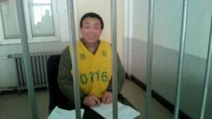 Mục sư Trương Thiếu Kiệt bị bắt vào cuối năm 2013 cùng với nhiều tín hữu khác tại Hà Nam - DR