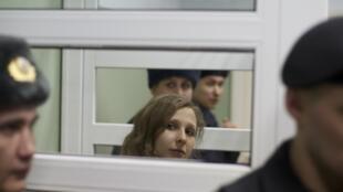 Мария Алехина во время судебного заседания в г. Березники Пермского края 16/01/2013