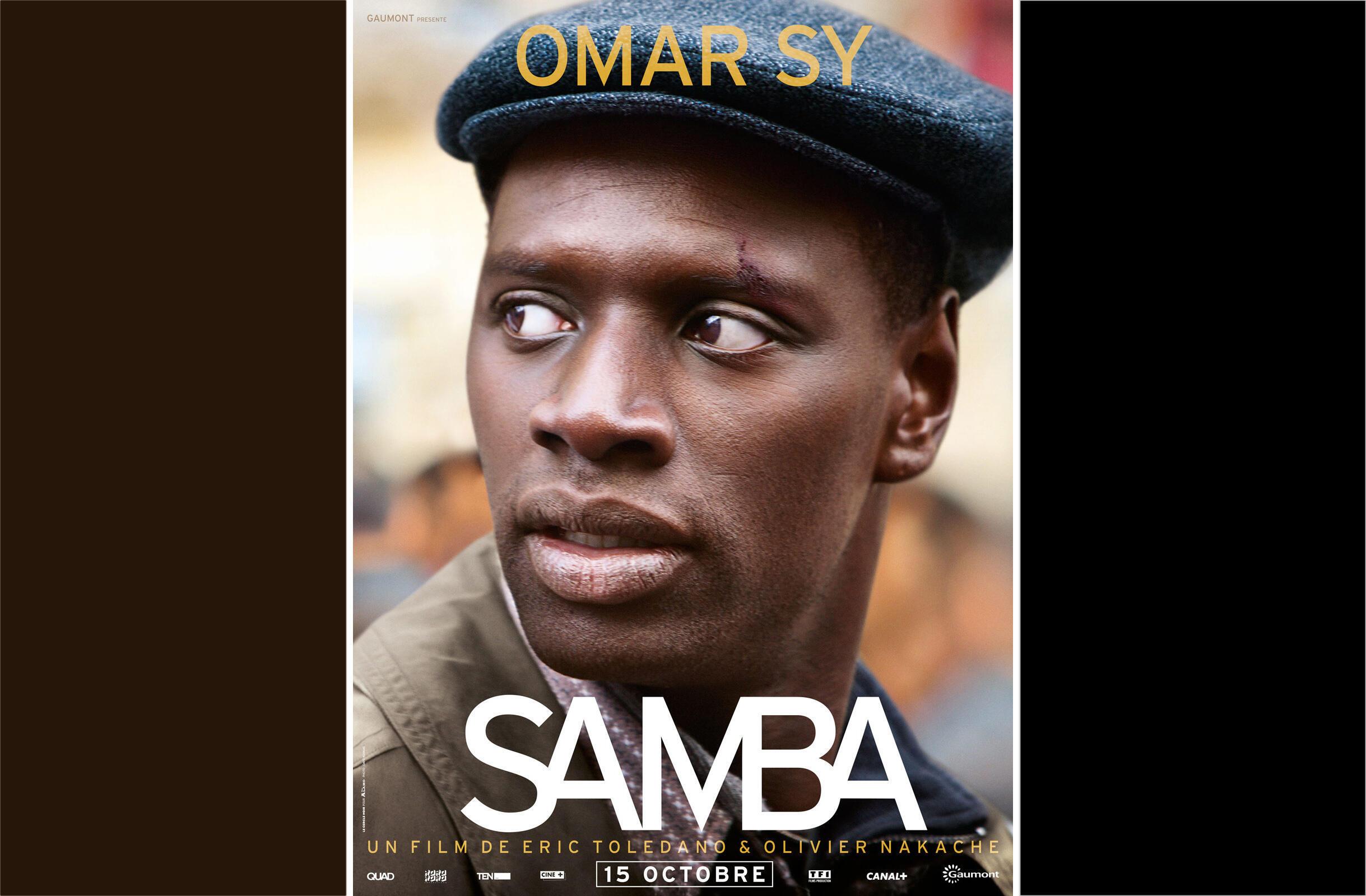 L'affiche du film <i>Samba, </i>des réalisateurs Olivier Nakache et Eric Toledano.