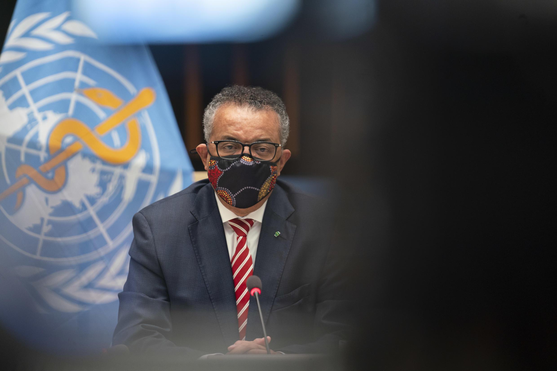 El director general de la Organización Mundial de la Salud (OMS), Tedros Adhanom Ghebreyesus, el 5 de octubre de 2020 en Ginebra