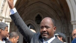 Louis Olivier Bancoult, président du groupe de refugiés de l'archipel des Chagos, à Londres en mai 2007.