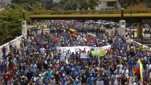 A Venezuela vive uma onda de manifestações contra o governo de Nicolás Maduro, motivadas pela crise econômica.