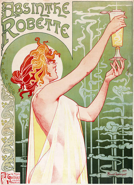 Lithography by Henri Privat-Livemont, 1896