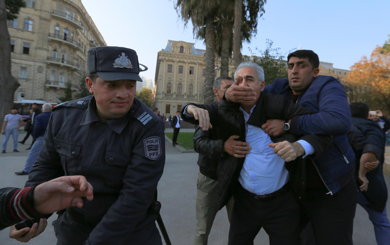 Разгон оппозиционного митинга в Баку. Ноябрь 2019 г.