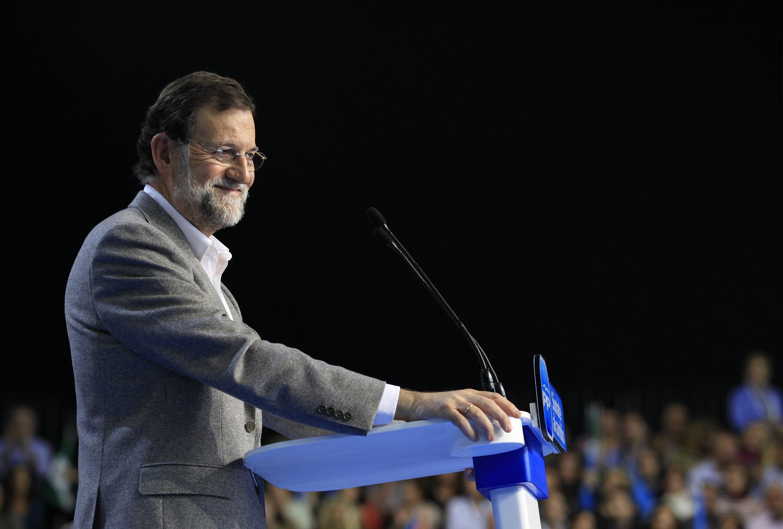 Mariano Rajoy, le leader du Parti populaire espagnol à Séville, le 17 novembre 2011.