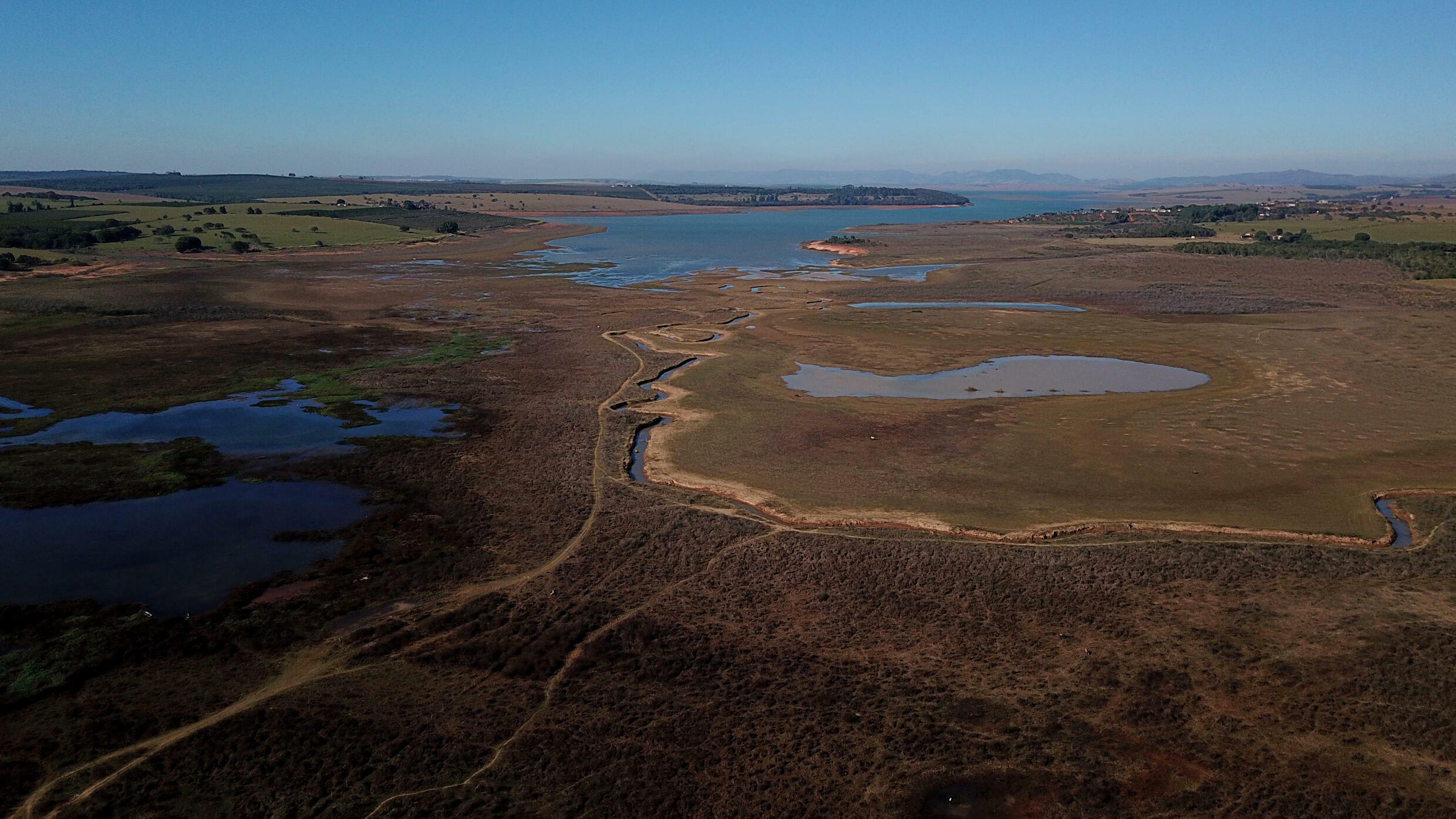 Experts say the drought in Brazil's south is caused mainly by the La Nina weather phenomenon which causes cyclical cooling of Pacific Ocean surface temperatures, while in the central-west, they point the finger at Amazon deforestation
