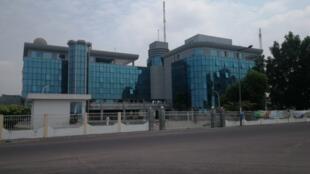 Vue du Centre national de radio et de télévision (CNRTV), siège de la télévision publique congolaise.