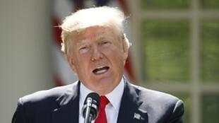 Selon Donald Trump, ici à la Maison Blanche le 1er juin, l'accord de Paris «désavantage les Etats-Unis».