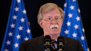 Le conseiller à la sécurité nationale, John Bolton, en Israël, ce mercredi 22 août.
