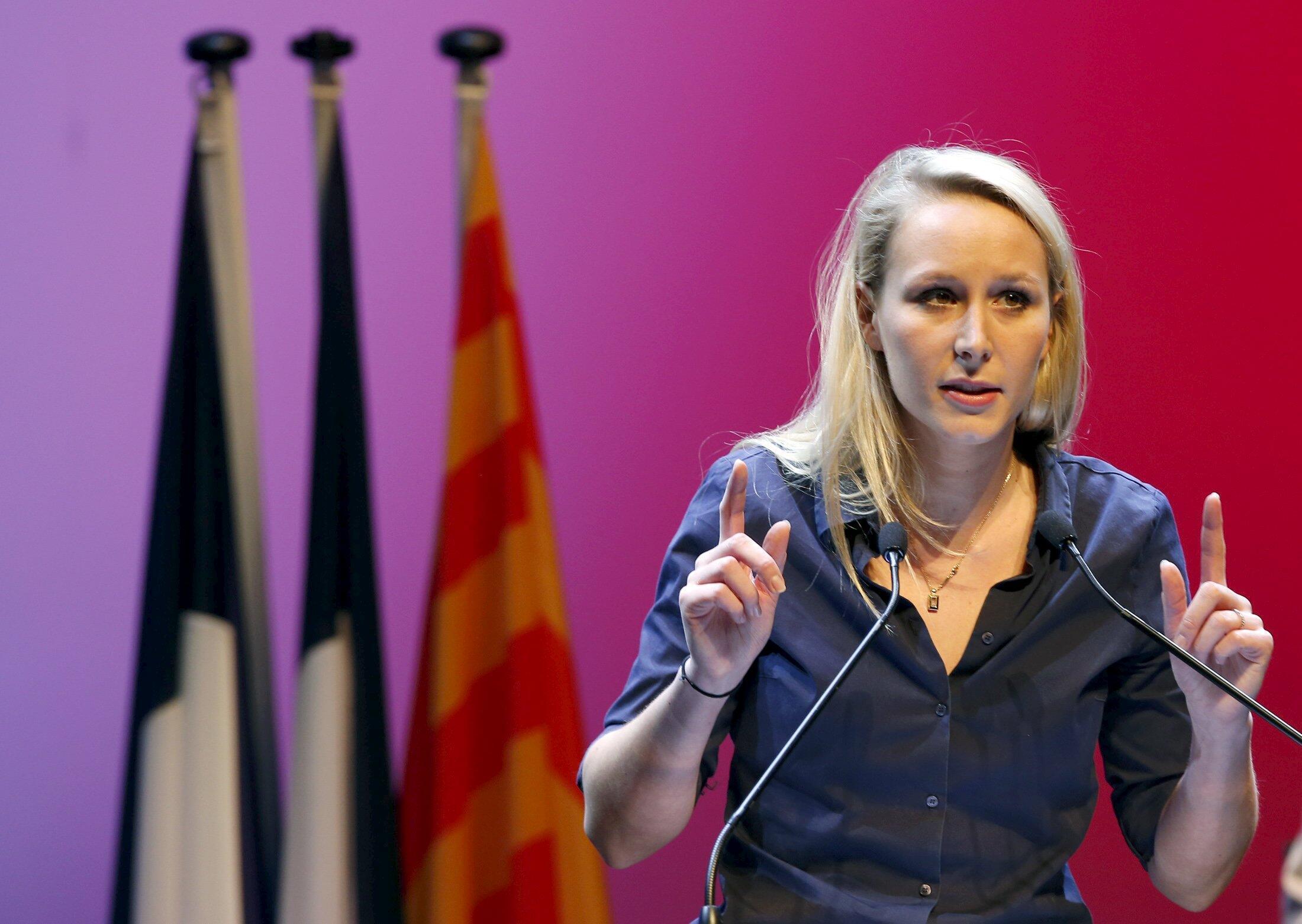 Журналисты отмечают, что Марион Марешаль-Ле Пен часто выбирает наряды демократичной марки Zara.