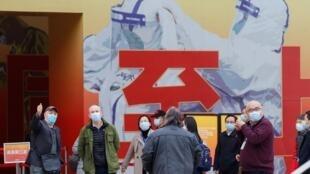 Tawagar kwararru hukumar lafiya ta duniya WHO a garin Wuhan, dake lardin Hubei a China.  30/1/2021.