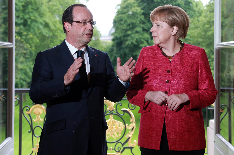 Встреча Франсуа Олланда и Ангелы Меркель в Елисейском дворце. Париж 30/05/2013