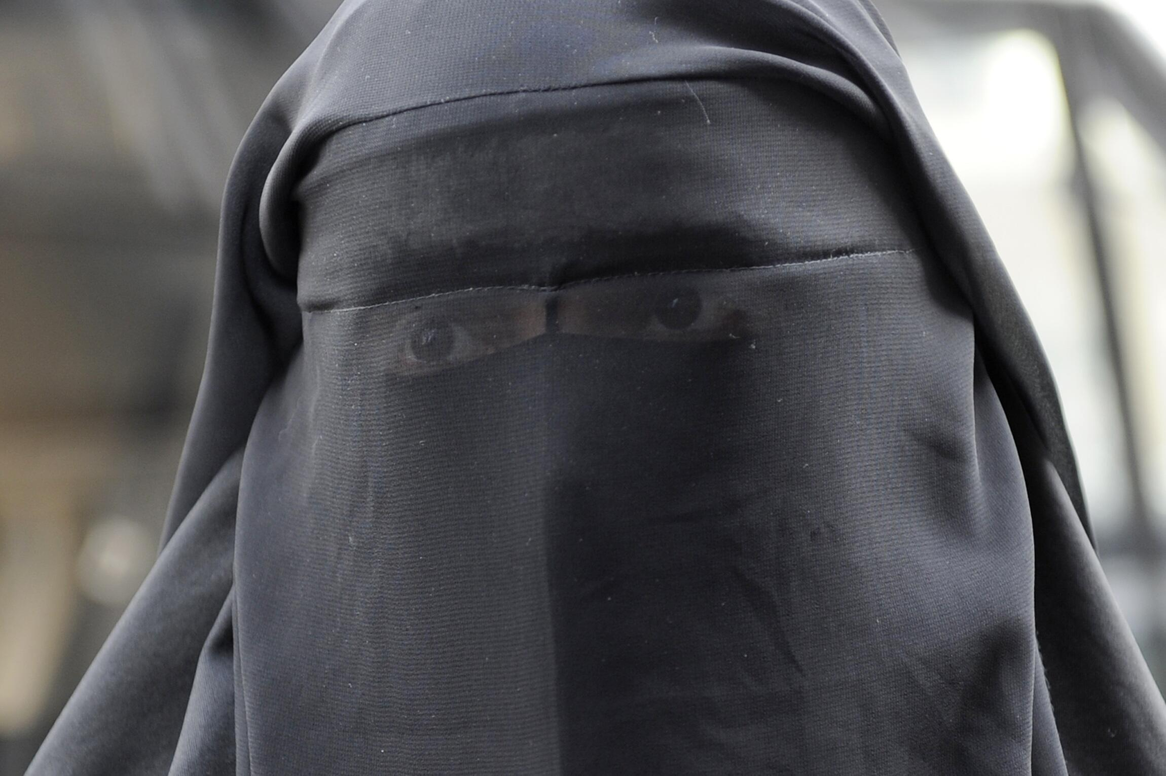 The face-covering veil is banned in public places in France