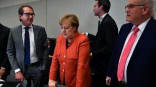 Kansela wa Ujerumani, Angela Merkel, Berlin, Novemba 20, 2017.