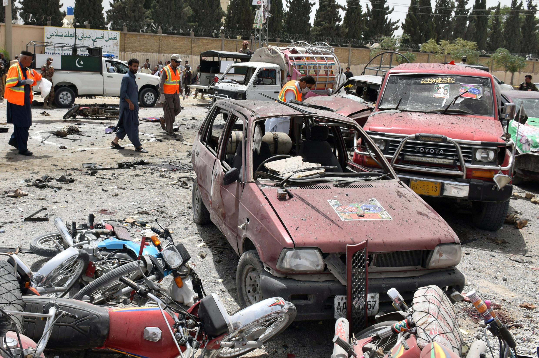 巴基斯坦大選奎達市一投票站附近IS自殺爆炸至少30人死2018年7月25日
