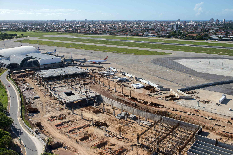 Obras de ampliação do Aeroporto Internacional Pinto Martins, em Fotaleza.
