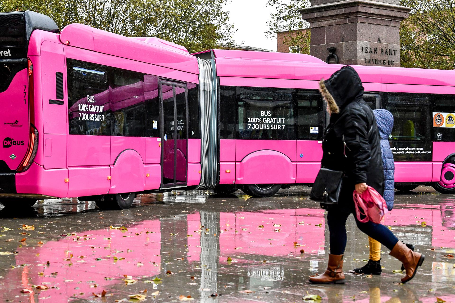 À Dunkerque, l'accès et l'utilisation des transports en commun sont gratuits.
