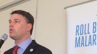 """Hervé Verhoosel est le porte-parole auprès des Nations Unis de """"Roll Back Malaria""""."""