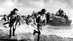 Landing in Normandy on 6 June, 1944