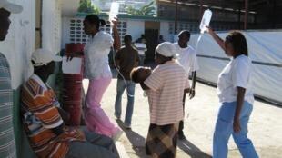 Centre de Traitement du Choléra mis en place par MSF, Saint-Marc, Haïti.