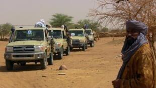 Wapiganaji wa kundi la waasi Kidal, Mali, Julai 13, 2016.