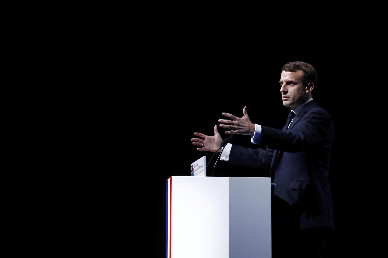 Emmanuel Macron au Congrès des maires de France, le 19 novembre 2019, à Paris.