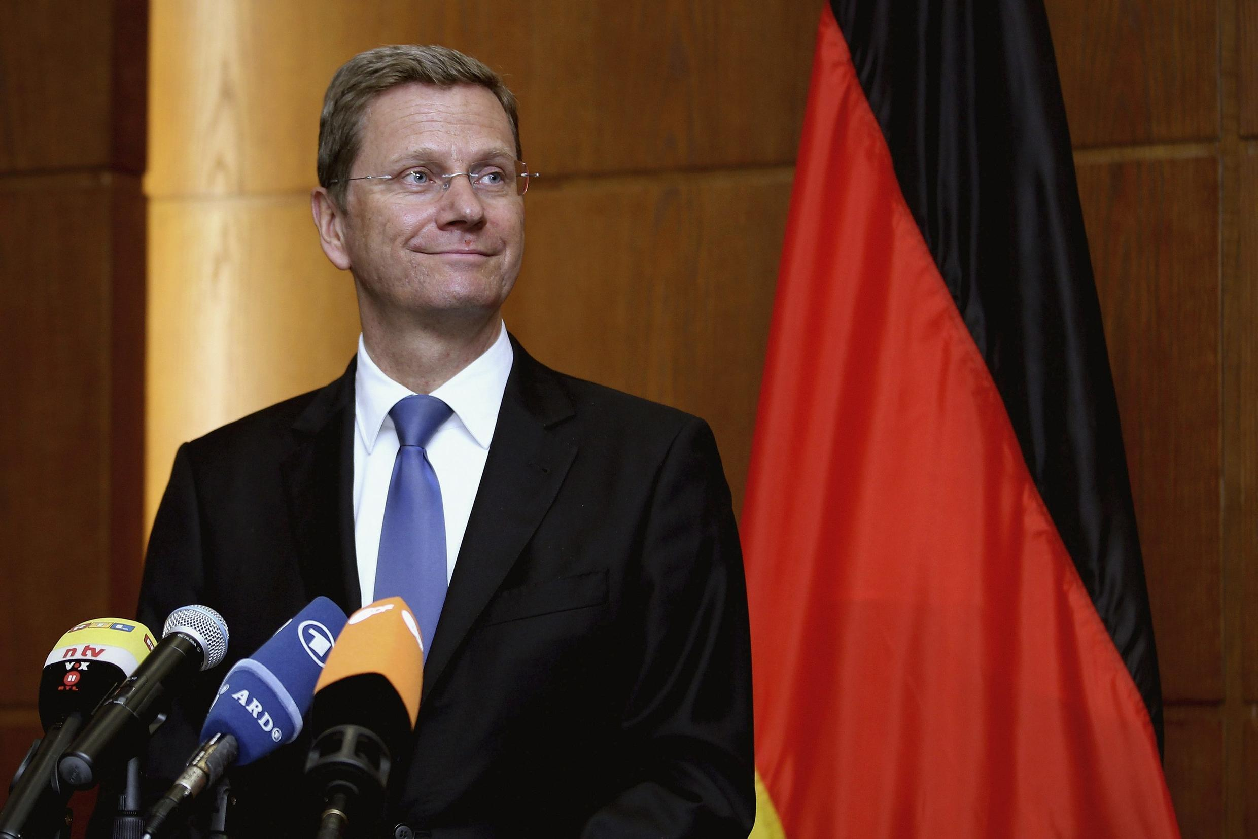 Germany's Foreign Minister Guido Westerwelle