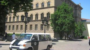 Le bâtiment du Parlement à Riga, en Lettonie.